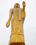 站立的巨型金黄菩萨 免版税库存照片