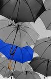 站立从人群的伞独特 库存照片
