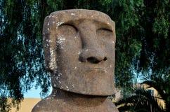 站立从复活节岛的Moai 图库摄影