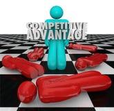 竞争优势人优胜者单独站立 免版税库存图片