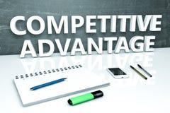 竞争优势文本概念 向量例证
