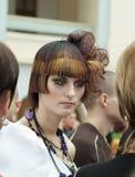 竞争创造性的hairdresses组成 库存图片