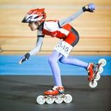 竞争四轮溜冰 免版税图库摄影