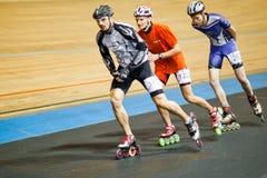 竞争四轮溜冰 库存照片
