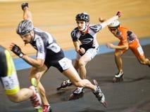 竞争四轮溜冰 免版税库存照片