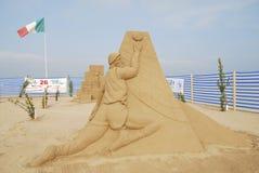 竞争国际沙子雕塑 库存照片