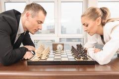竞争在办公室 免版税库存照片
