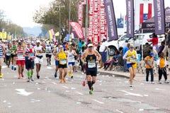 竞争在2014位同志Marathon公路赛的赛跑者 免版税库存照片
