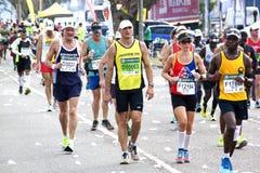 竞争在2014位同志Marathon的参加者的所有年龄 库存照片