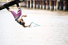 竞争对手wakeboard 库存图片