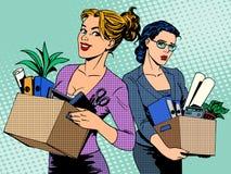 竞争工作解雇女实业家空位 皇族释放例证