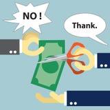 竞争市场份额 薪水税,薪水费 免版税库存图片
