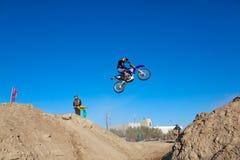 竞争摩托车体育运动 免版税库存图片