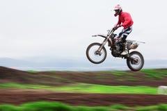 竞争摩托车越野赛 免版税图库摄影