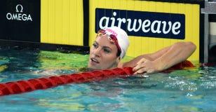 竞争游泳者埃米莉・西博姆AUS 免版税库存照片