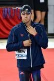 竞争游泳者安德鲁迈克尔美国 库存照片