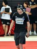 竞争游泳者猎人丹尼尔NZL 库存图片