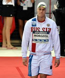 竞争游泳者莫罗佐夫弗拉基米尔鲁斯 免版税库存图片