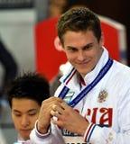 竞争游泳者莫罗佐夫弗拉基米尔鲁斯 免版税库存照片