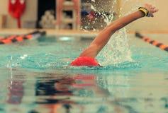 竞争游泳者 免版税库存图片