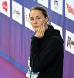 竞争游泳者Jeanette OTTESEN小室 免版税库存照片