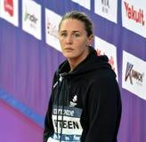 竞争游泳者Jeanette OTTESEN小室 免版税图库摄影