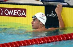 竞争游泳者PRENOT Josh美国 免版税库存照片