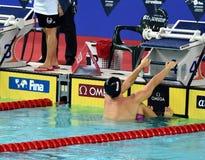 竞争游泳者SANKOVICH Pavel BLR 库存照片