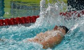 竞争游泳者SANKOVICH Pavel BLR 图库摄影