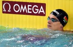 竞争游泳者SANKOVICH Pavel BLR 库存图片