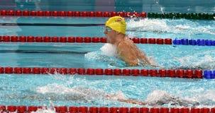 竞争游泳者STEFFAN塞巴斯蒂安AUT 图库摄影