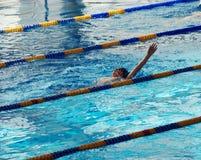 竞争游泳 图库摄影