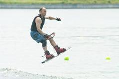 竞争滑雪水 免版税库存照片