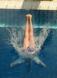 竞争潜水 免版税库存图片