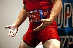 竞争的运动员powerlifter 库存图片