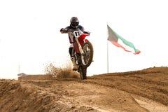 竞争科威特motorcross 免版税库存照片