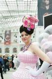 竞争hairdresses莫斯科 免版税库存图片