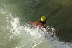 竞争ironman游泳者 免版税库存图片