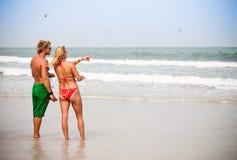 竞争kiteboarding的赠送者 库存照片