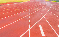 竞技体育场连续轨道 库存图片