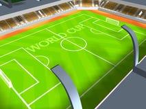 竞技场新的足球 免版税库存照片