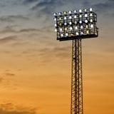 竞技场泛光灯体育运动 库存图片