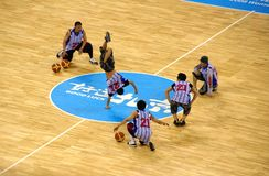 竞技场球篮子北京奥林匹克放置的服务 免版税库存照片
