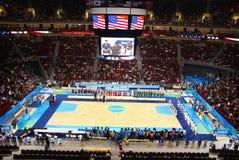竞技场球篮子北京奥林匹克放置的服务 库存图片
