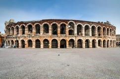 竞技场,维罗纳圆形露天剧场在意大利 免版税库存图片