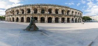 竞技场arles罗马的法国 库存照片