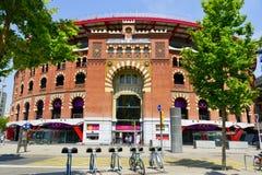 竞技场de巴塞罗那,在巴塞罗那,西班牙 库存图片