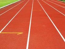 竞技跑步的轨道 免版税库存照片