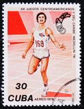 竞技,第13场中美洲和加勒比比赛,大约1978年 图库摄影