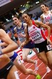 竞技-妇女1500m, TERZIC Amela 免版税库存图片